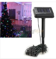 Free Shipping 22m 200 LED Solar String Light  6 colors For Garden Wedding Party Outdoor Christmas Decoration Lamps