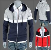 Winter polo brand men's fleece jacket Men's long sleeve cap unlined upper garment Outdoor sports leisure fleece hoodies