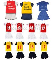14 15 red yellow black Kids OZIL #11 ALEXIS soccer jersey Kids Children ARTETA PODOLSKI WILSHERE GIROUD RAMSEY Football Uniforms