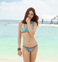 Brazilian bikini swimwear pink swimsuit Women bikini swimsuit beachwear cheap sexy bathing suits Top + Bottom Bra Swimwear