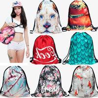 Fashion 3D Print Animal Japan Style Women travel bag backpacks luggage travel bags Harajuku duffle bag