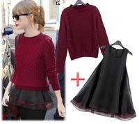 Free Shipping Hot Sale Euramerican New Fashion Women's Suit Organza Professional OL WOOL COATS Knitting Sweater Thick Coat