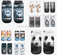 3D printing animal socks casual socks cute animal shapes of men and women socks Calcetines Meias neutral