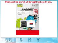 50pcs/lot  TF card Micro SD card 64GB TF card + Adapter ,DHL Free Shipping!!