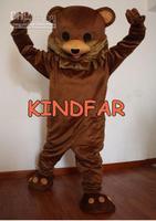 Hot sale 2014 Adult Professional New Big Face Teddy Bear Mascot Costume Fancy Dress Adult Size Cartoon