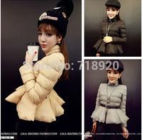 Mulheres fino casaco babados zipper faixas  casaco Coat