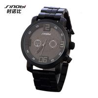 SINOBI Brand Men Military Watch Fashion Men Quartz Adjustable men Sports Watches Full Steel Men Watch Casual Reloj