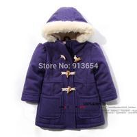 new 2014 autumn winter jackets baby clothing fashion girls coat kids long warm Overcoat children outerwear