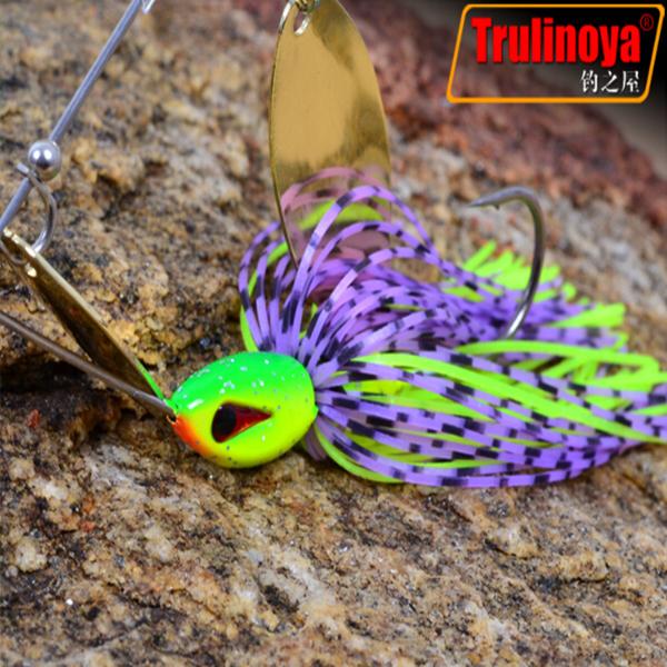 2014 Trulinoya Fishing Lures Tackle Set 5pcs Spinner bait 7g Treble Hook Artificial Metal Lure Spoons Wholesalers China Hot Sale(China (Mainland))
