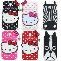 Lenovo A850 Case Hello Kitty Cute Cartoon Case Minions Zebra Dog Silicon Case Cover Lenovo A850 Phone Cases DHL Shipping 100pcs
