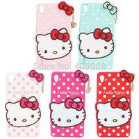 Lenovo S850 Silicone Case Cute Hello kitty Polka Dots Back Cover Lenovo S850 Cartoon Phone Case Lenovo S850 Hello Kitty Case