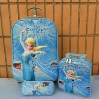 Girls Cartoon Travel  Rolling  Luggege  set   Trolley Bags +Lunch Box +pencil Case