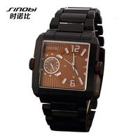 SINOBI Brand Classic rectangular Casual Watches Men Sports Watch army military watches Quartz Clock