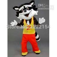 Hot sale 2014 Adult High quality Cute Raccoon mascot costume cartoon fancy dress party free size