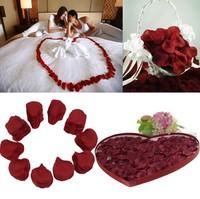 Best 1000pcs Silk Rose Petals Wine Red Flower Favors Confetti Wedding Party Decor