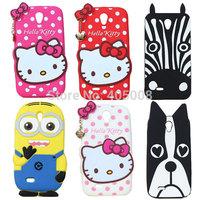 Lenovo A850 Case Hello Kitty Minions Zebra Dog Silicone Soft Case Cover Lenovo A850 Cartoon Cases Cover Free Shipping 20pcs/lot