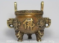Chinese Religion & Spirituality > Buddhism > Incense & Incense Holders Tibetan Antique Copper Bronze