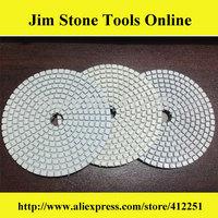 100 mm 3 step diamond polishing pads dry/wet stone polishing tools polish diamond pad for granite and marble (100 * 3.0 mm)
