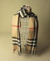 Free shipping Brand Design Classic 100% cashmere wool Plaid scarf&shawl,185cm*30cm beige camel gray scarves