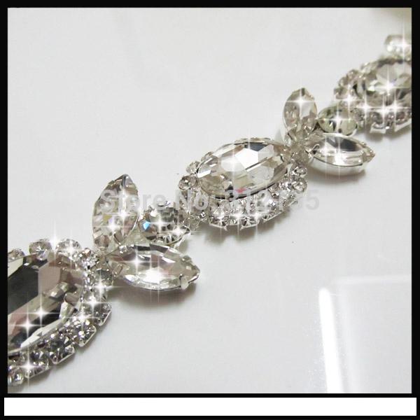 Free Shipping 22.5mm Handmade Wedding Party Dress/Bag/Shoe Shining Crystal Chain Accessory 30cm/Lot(China (Mainland))