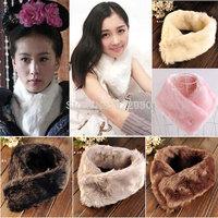 Winter Warm Women Ladies Soft Rabbit Fur Scarf Shrug Shawl Stole Cape Scarves Wrap Muffler 9 colors