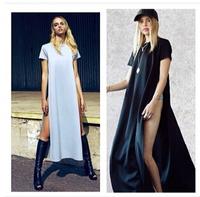 2014 free ship  cotton placketing women's sexy bandage one-piece dress
