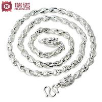 999 fine silver male necklace pure silver fashion scfv gift fashion Men