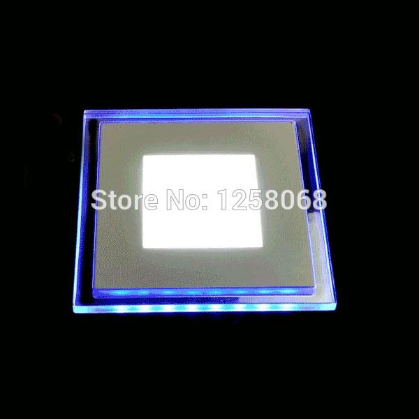 10pcs10w/15w/20w recesso quadrado acrílico cristal levou painel de luz azul e branco ac85-265v ultra- shin levou mini-parede de luz de teto(China (Mainland))