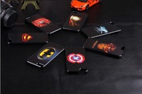 Hot Sale Captain America Superman Super Man Logo mobile cell phone case leather for apple iphone 6 plus 5.5 case