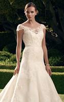 Gorgeous Cap Sleeves Lace Tulle Satin High Back Wedding Dresses Bridal Gowns Vestido de Noiva  XS S M L XL 2XL 3XL 4XL 5XL