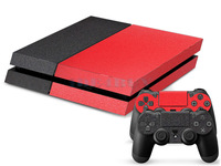 Black+Red Sticker Decal Skin For Playstation 4 PS4 Console+Controller 1 pc Free Ship