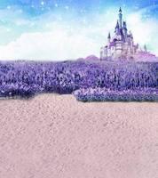 5X7ft lavender castle for wedding photography backgrounds muslin computer printed digital cloth vinyl background backdrop