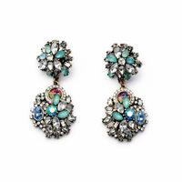 New Fashion Full Austrian Rhinestone Crystal Drop Earrings For Women Wholesale! Vintage Big Earrings1pcs Free Shipping JLE052