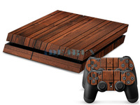 Cool Wood Grain Sticker for Playstation 4 PS4 Console Controller Protector Skins 1 pc Free Ship