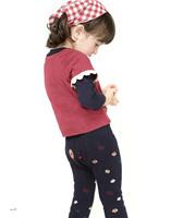 girls kid  leggings Add hair thickening children leggings Baby jacquard double warm trousers. 2002