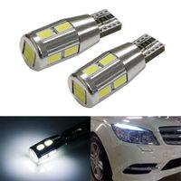 (2) HID White 10-SMD Error Free LED Bulbs For European Car Parking Eyelid Lights
