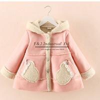 2015 New Fashion Girl Flower Coat Korean Styles Long Sleeve Baby Girl Jacket For Kids Suit OC41113-13^^EI