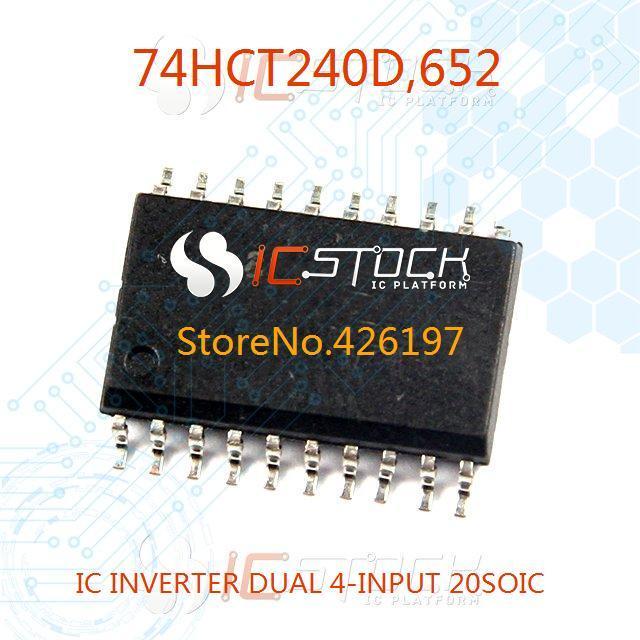 74HCT240D-652 IC INVERTER DUAL 4-INPUT 20SOIC 74HCT240D 240 74HCT240 10pcs(China (Mainland))
