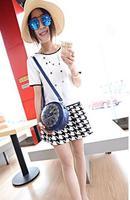 2014 new fashion clock design clutch bag/shoulder bag/ message bag for women