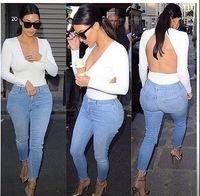 Women White Tees roupas femininas backless hollow out V Sexy long sleeve blouse blusas blusa t shirt vestidos high street tops