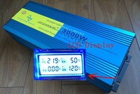 LCD Display 6000W Peak Pure Sine Wave Inverter DC 24V TO AC 220V 230V 240V 60HZ Power Inverter 3000W freeshipping