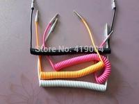 3.5mm Retractable Car Audio AUX Cable Cord 7 colors DHL Fedex Free Shipping,500pcs/lot
