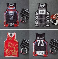 DR-41 Tank tops Basketball jersey HOOD BY AIR 69 HBA Sports Quick dry gym shirt Fashion Mens vest Joggers Tank top hip hop brand