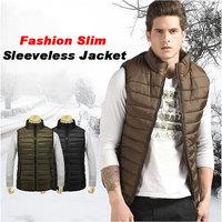 Hot sale Free shipping fashion men down vests colete masculino windproof fishing sleeveless jacket men winter waistcoat