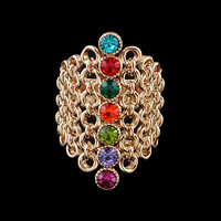 Created Gemstone Rings Wholesale Fashion Luxury Charm Rings From India 2014 New Fashion Jewelry