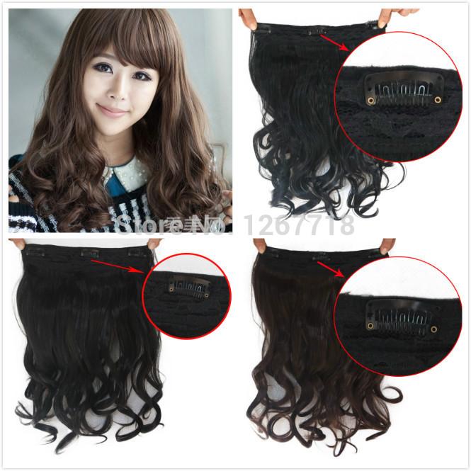 Clip in Long Black Wavy Hair