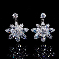 Bling Elegant Long  Drop Earring  Women Jewellery Accessories Fashion All-match Bride Wedding Party