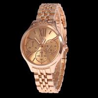 2015 New Fashion SHIKAI Brand Watch Ladies Rose Gold/Gold 2colors Stainless Steel Quartz Watch Classic Women Men Dress Watches