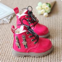 2014 child winter martin boots plus velvet boys shoes female child boots snow boots zipper baby shoes