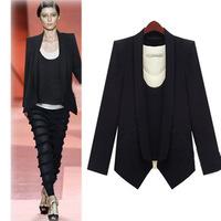 Spring Autumn Europe and America Women Handsome Brand Big Size Black Long Sleeve Women Blazers Wholesale M-L-XL-XXXL